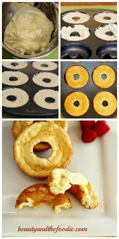 Gluten free croissant bagels - maybe substitute greek yogurt for cream cheese? I have got to try these!