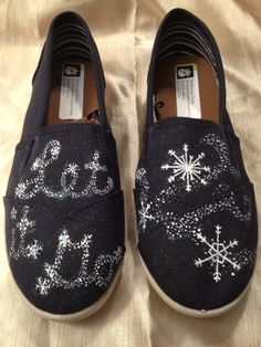 "Frozen Inspired Hand Painted Shoes Disney  ""Let it Go"" by MonkeymouDesigns, $25.00 www.facebook.com/MonkeymouDesigns"