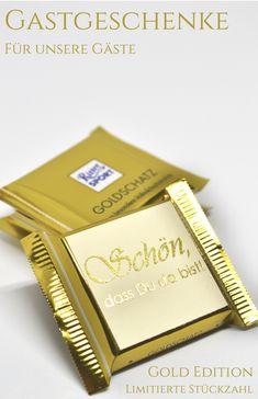 Gastgeschenke in gold,Schkotäfelchen, mit Goldveredelung, Schokolade, Give Away, Vollmilchschokolade, kleines Dankeschön, kleines Geschenk, Personalisierung, individualisiert, handmade with love, Schön, dass Du da bist! #gastgeschenke#gold#schokotäfelchen#schokolade#giveaway#kleinesdankeschön#dankeschön#geschenk#vonherzen#veredelt#personalisiert#handmade#handmadewithlove#velvetdesign#dawanda