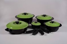 Introducing Xtrema Colors. This is our first line of colored cookware. Now you can accent our 100% Ceramic Healthy Cookware with Firebrick Red or Apple Green Covers.