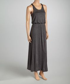 Look what I found on #zulily! Charcoal Racerback Blouson Maxi Dress by Zenana #zulilyfinds $14.99, regular 40.00