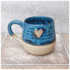 Cuddle mug coffee tea cup with a heart in stoneware hand thrown ceramic pottery click now for more info. Cuddle mug coffee tea cup with a heart in stoneware hand thrown ceramic pottery click now for more info. Pottery Mugs, Ceramic Pottery, Pottery Art, Slab Pottery, Clay Mugs, Ceramic Clay, Ceramic Bowls, Cerámica Ideas, Wheel Thrown Pottery