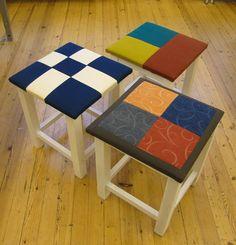 Diy Crafts For School, Textiles, Wood Crafts, Painted Furniture, Needlework, Stool, Woodworking, Kraken, Quilts