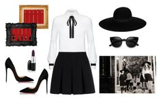 """""""AHS: Coven"""" by letih ❤ liked on Polyvore featuring Christian Louboutin, Alice + Olivia, Alexander Wang, Maison Michel and Coven"""
