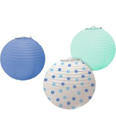 Multi Blue Paper Lanterns - Party City $6.99/3 Lanterns