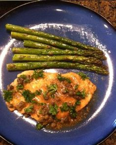 Chicken Piccata Shared on https://www.facebook.com/LowCarbZen | #LowCarb #Dinner #Lunch