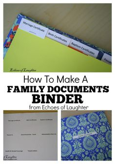 How To Make A Family Documents Binder