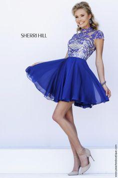Sherri Hill Short Beaded A Line Party Dress 1938