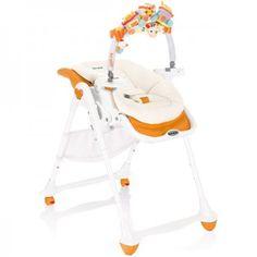 Chaise haute design Brevi B Fun + transat orange