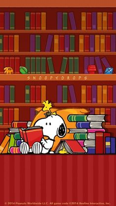 Snoopy and Woodstock - Reading ALL the Books Snoopy Love, Snoopy E Woodstock, Meu Amigo Charlie Brown, Charlie Brown And Snoopy, Peanuts Cartoon, Peanuts Snoopy, Snoopy Cartoon, Peanuts Comics, I Love Books