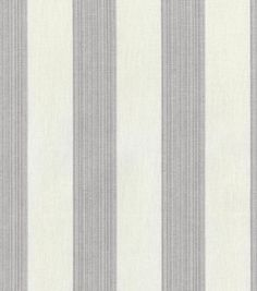 Upholstery Fabric-Williamsburg Stratford Stripe Smoke