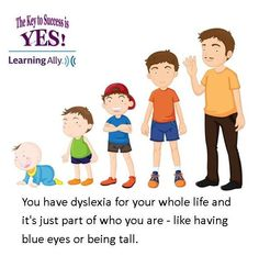 """You do not outgrow dyslexia. It is something you have your entire life. That's why I smile when adults tell me that they """"used to be"""" dyslexic."""