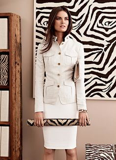safari chic. love this. tailored.