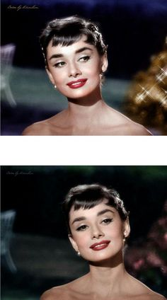 "Augenlid-Aufheller, der unter der Nase ein ""Stativ"" konturiert, das ihm … Eyelid brightener, contouring under nose ""tripod"" that gives it her very distinct nose look, overdrawn ""blocky upper lips that are as thick at the edges as they are at the points of Audrey Hepburn Mode, Audrey Hepburn Outfit, Audrey Hepburn Eyebrows, Audrey Hepburn Fashion, Hollywood Glamour, Classic Hollywood, Old Hollywood, Make Up Inspiration, Actors"