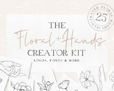 An elegant collection of fonts and illustrations - designed to work together in harmony, to produce a beautiful, sophisticated & feminine designs. Floral Printables, Poster Prints, Art Prints, Photoshop Cs5, Handmade Design, Logo Templates, Print Tattoos, Design Bundles, Branding Design