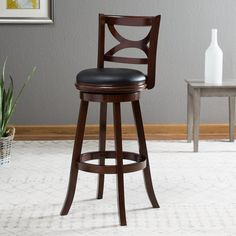 Boraam Florence 34 in. Extra Tall Swivel Bar Stool | from hayneedle.com