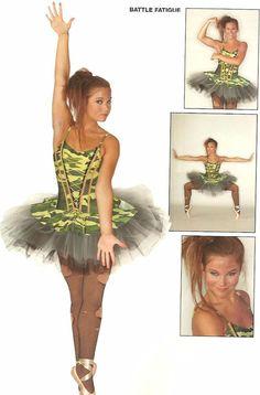 BATTLE FATIGUE Camo Ballet Tutu Ballerina Dance Costume Child XL,Adult Lar & AXL #Leos
