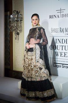 Rina Dhaka lengha at ICW 2014 #lehenga #choli #indian #hp #shaadi #bridal #fashion #style #desi #designer #blouse #wedding #gorgeous #beautiful