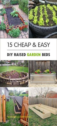Garden Planning Great DIY raised garden beds for vegetables and other crops, that you can make for your backyard. - Here are some great DIY Raised Garden Beds for vegetables and other crops, that you can make for your backyard. Building A Raised Garden, Cheap Raised Garden Beds, Making Raised Beds, Diy Garden Bed, Raised Gardens, Raised Bed Diy, Raised Herb Garden, Raised Flower Beds, Garden Walls