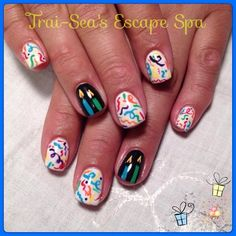 Birthday Celebration Nails by TraiSeasEscape from Nail Art Gallery