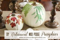 DIY Decoupage Pumpkins!