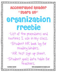 My classroom and how I set up accelerated reader. See how my students set and track their own goals. Freebies included!!!