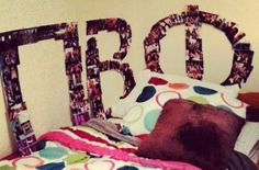 So cute- make the Pi Beta Phi letters out of photos! #piphi #pibetaphi