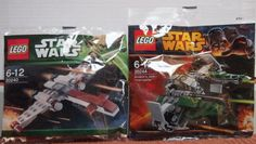 LEGO-STAR-WARS-Set-of-2-Brand-New-Poly-Bags