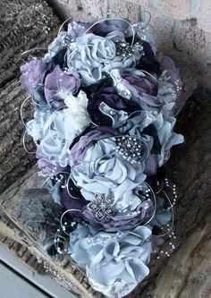 Fabric Bouquet/Vintage Styled Shabby Chic by apromisemadetoday, $400.00