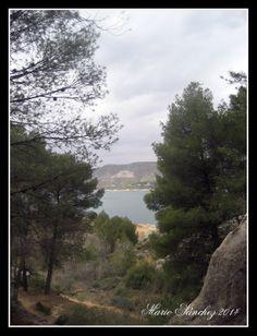 El pantano de Buendía desde la Ruta de las Caras.