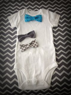 Really cute baby shower gift idea! Interchangeable Bow Tie Onesie