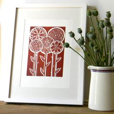lino print by mangle prints...Etsy