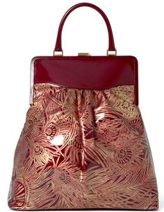 Liberty of London framed carriage in raspberry Hera foiled patent 01761e44b4896