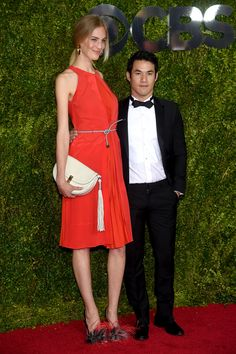 VANESSA AXENTE AND JOSEPH ALTUZARRA at the 2015 Tony Awards