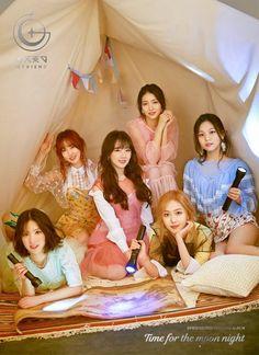 "Gfriend Mini Album Concept photos for ""Time for the Moon Night"" Kpop Girl Groups, Korean Girl Groups, Kpop Girls, Extended Play, Mamamoo, K Pop, Gfriend Album, Oppa Gangnam Style, Lee Hyun Woo"