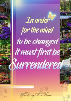 Words of the Son⠀ ⠀ In order for the mind to be changed, it must first be surrender.⠀ ~ Pastor Apollo C. Quiboloy, Appointed Son of God⠀ ⠀ ⠀ Son Of God, Apollo, Sons, Spirituality, Mindfulness, Messages, Knights, Places, Quotes
