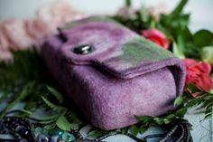 """Купить """"Сумка валяная конфетка «Розовая мозаика» - сумка через плечо, валяная сумочка"""