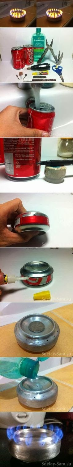 How To Make a Mini Can Torch  If you are careful you can make such a can torch on your own. You will need a can, a pair of pliers, a pair of scissors, ethyl alcohol, a screwdriver and a knife. Be patient and following the pictures you will be able to create such a mini torch.