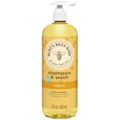 A tear free formula to naturally clean your babys sensitive skin and hair. Burts Bees Baby Shampoo & Wash is clinically shown to be gentle enough for everyday use. Available at Walmart.com.