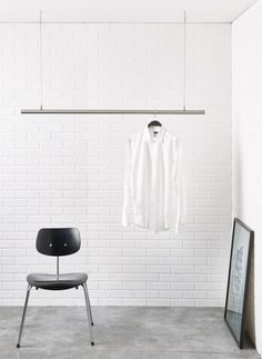 airjust ® hanging cloth rack. Ceiling mounted. The clothes rail is free…