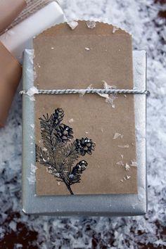 Brown stamped envelopes.