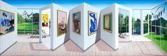 The work of London-based artist, Patrick Hughes Norman Ackroyd, Elisabeth Frink, Allen Jones, Bridget Riley, John Piper, Perspective Art, Henry Moore, Optical Illusions, Painters