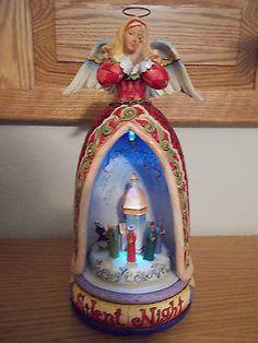 Jim-Shore-Silent-Night-Angel-Figurine-Revolving-Lighted-Musical-Nativity