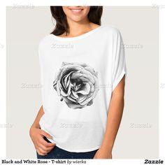 Black and White Rose - T-shirt