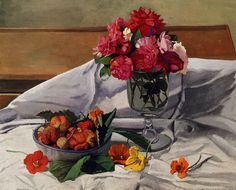 Félix Vallotton「Flowers and Strawberries」(1920)