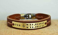 Personalized Mens BraceletHusband GiftBrother GiftBoyfriend