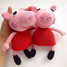 peppa pig amigurumi crochet pattern