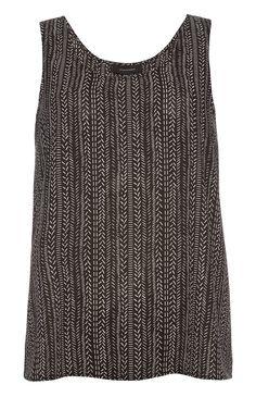 Primark - Black Print Swing Vest Top