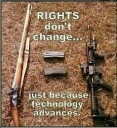Rights don't change, just b/c technology advances.