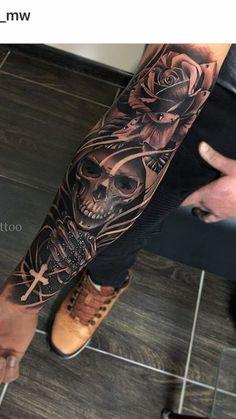 Super Ideas For Tattoo Sleeve Men Arm Skull Ideas - Trend Tattoo Fonts 2019 Skull Sleeve Tattoos, Forearm Sleeve Tattoos, Best Sleeve Tattoos, Tattoo Sleeve Designs, Tattoo Designs Men, Mens Arm Sleeve Tattoo, Man Sleeve Tattoo Ideas, Men Tattoo Sleeves, Arm Tattoos For Men